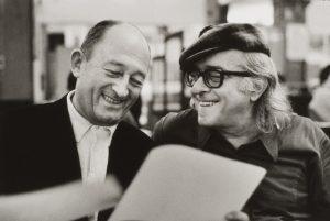 Pierre Seghers et Vinícius de Moraes. Paris 1972 - © photo : Alécio de Andrade - cc