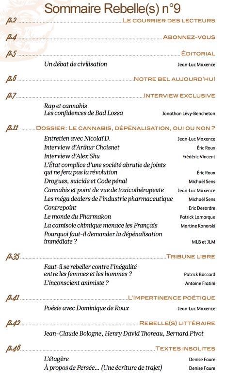 sommaire-rebelles-magazine-n9