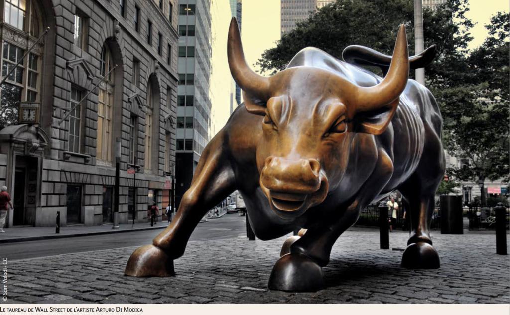 Le taureau de Wall Street de l'artiste Arturo Di Modica